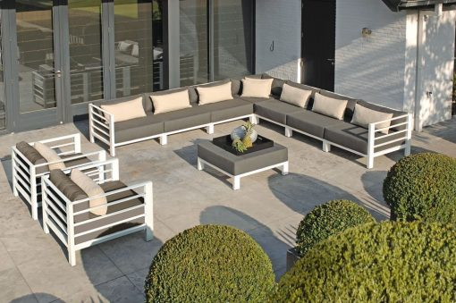 borek horizon lounge bank aluminium