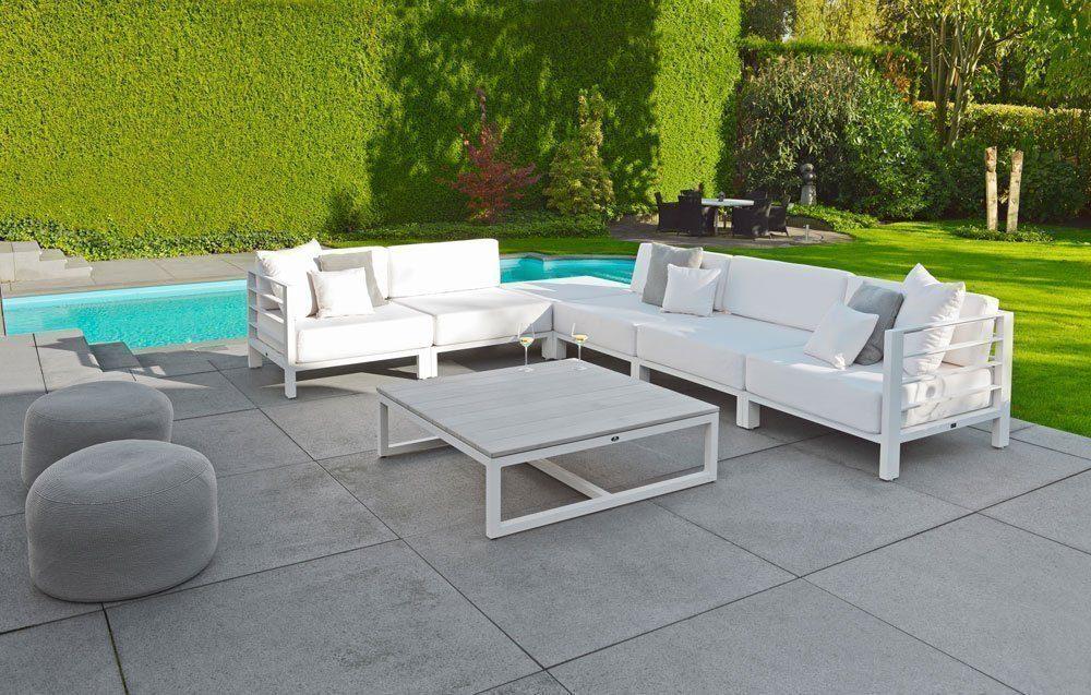 borek venice lage tafel teak aluminium lounge