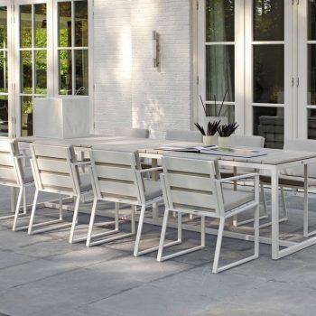 borek venice tafel dining teak aluminium