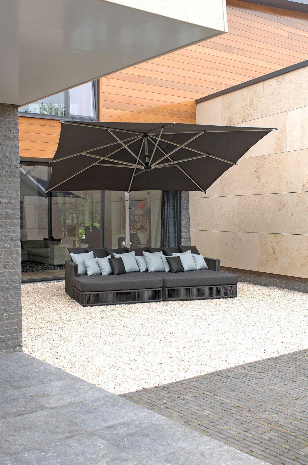 Borek - Lincoln chaise longue en Rodi parasol | Bogarden Buitenmeubilair