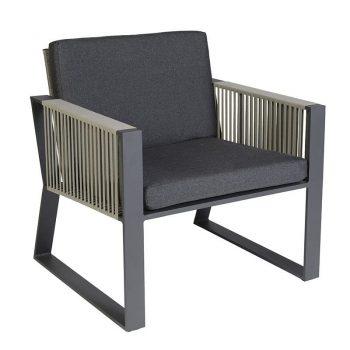 borek modena lage fauteuil belt aluminium