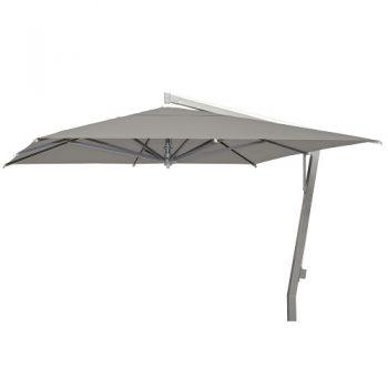Borek - Capri zilver parasol 350x350 - sunbrella taupe | Bogarden Buitenmeubilair