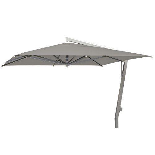 Borek - Capri zilver parasol 350x350 - sunbrella taupe   Bogarden Buitenmeubilair