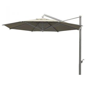 Borek - Rodi zilver parasol Ø400 - sunbrella taupe   Bogarden Buitenmeubilair