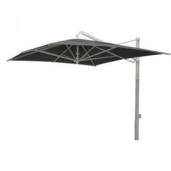 Borek - Rodi zilver parasol 300x400 - zwart   Bogarden Buitenmeubilair