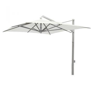 Borek - Rodi zilver parasol 300x400 - wit   Bogarden Buitenmeubilair