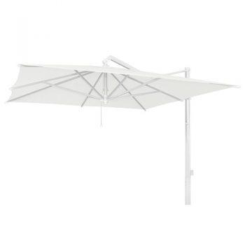 Borek - Rodi parasol 350x350 - wit   Bogarden Buitenmeubilair