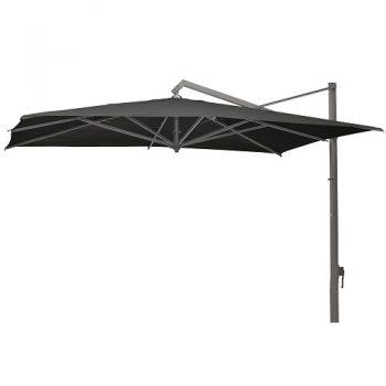 Borek - Rodi grafiek parasol 400x300 - batyline zwart | Bogarden Buitenmeubilair
