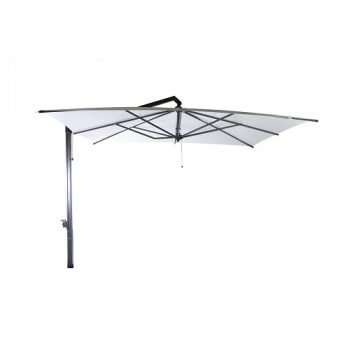 Borek - Rodi grafiek parasol 400x300 - sunbrella wit   Bogarden Buitenmeubilair