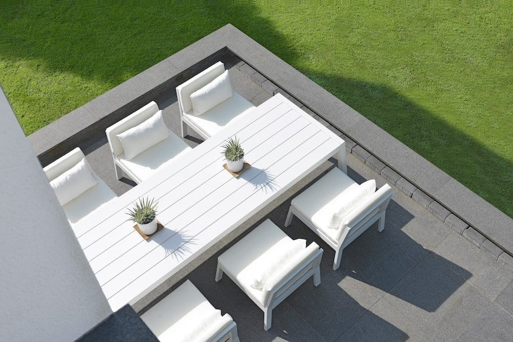 max & luuk mike low dining tafel lounge aluminium