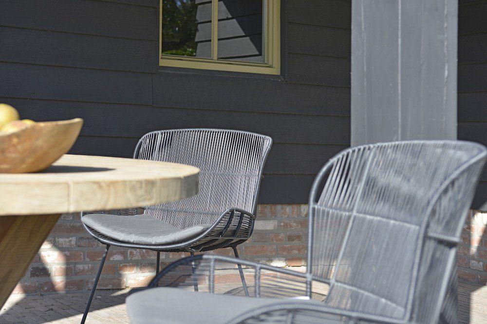 Max & Luuk - Jim ronde tafel en Faye stoelen | Bogarden Buitenmeubilair