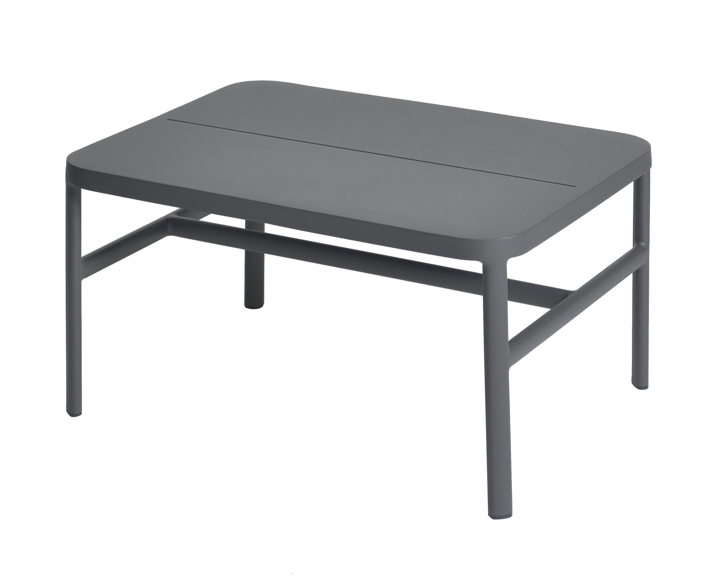 max & luuk grace lage tafel voetenbank aluminium
