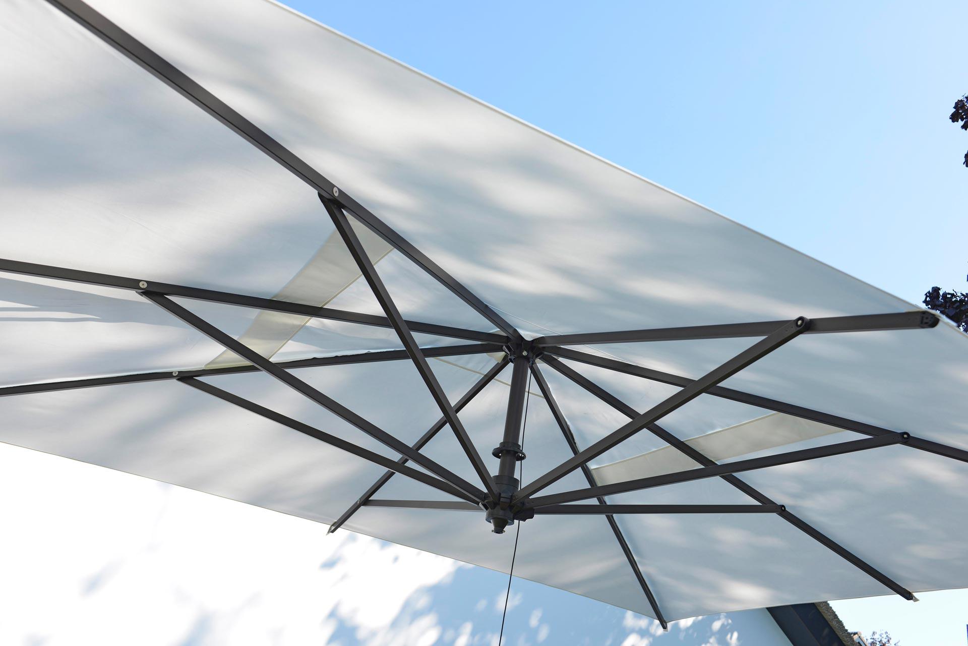 Borek - Rodi sunbrella wit doek | Bogarden Buitenmeubilair