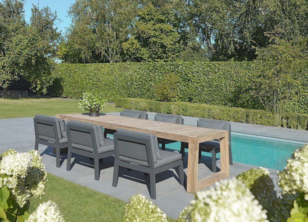 max & luuk mike low dining stoel lounge aluminium