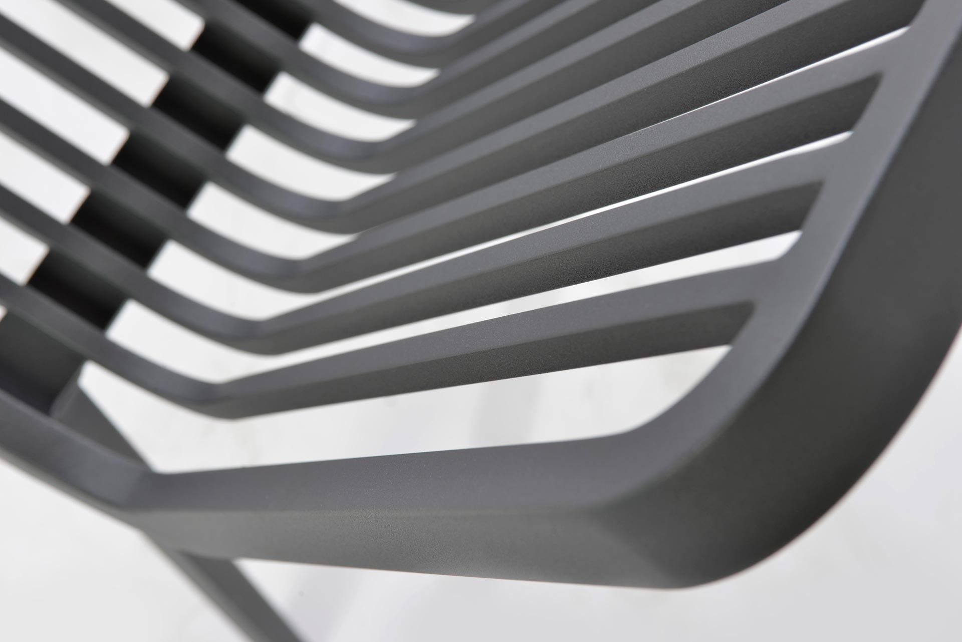 max & luuk stripe stapelbare stoel aluminium