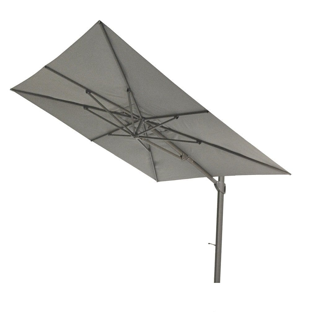 Max & Luuk - Vince 300x300 parasol - donker grijs | Bogarden Buitenmeubilair