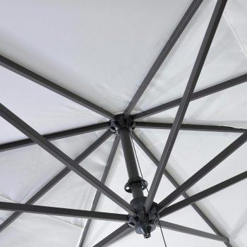 Borek - Rodi sunbrella wit doek - detail   Bogarden Buitenmeubilair