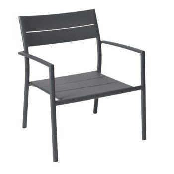 max & luuk grace stapelbare lage fauteuil aluminium