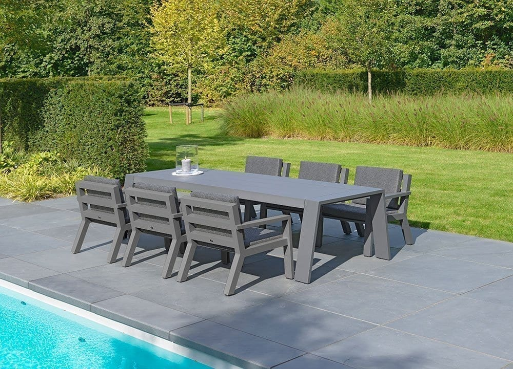 borek viking low dining stoel aluminium