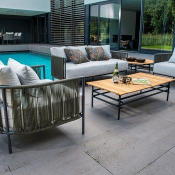 Yoi Furniture - Ki lage tafel 125x65 en Umi lounge set | Bogarden Buitenmeubilair